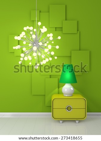 Modern interiour composition. - stock photo