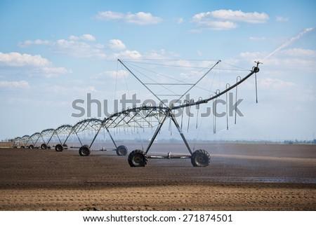 Modern irrigation system - stock photo