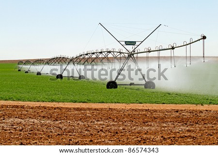 Modern irrigation system in South africa - stock photo