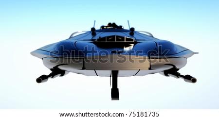 Modern jet fighter - stock photo