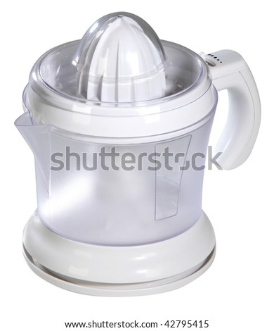 Modern juice extractor on a white background - stock photo