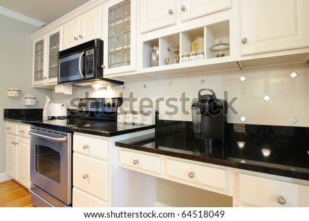 Modern kitchen appliances - stock photo