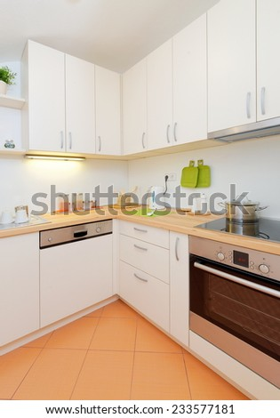 Modern kitchen at home - stock photo