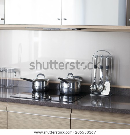 Modern kitchen at home. - stock photo