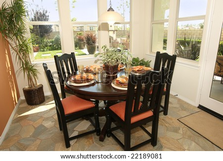 Modern kitchen casual dining area - stock photo