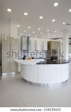 Modern kitchen design - stock photo