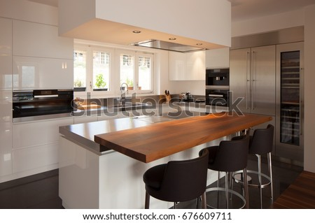 modern kitchen in luxury apartment nobody inside - Inside Luxury Apartments