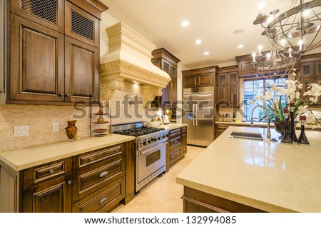 Luxury House Kitchen luxury kitchen stock images, royalty-free images & vectors