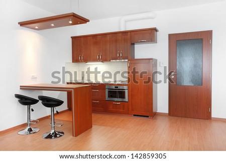 Modern kitchen interior. - stock photo