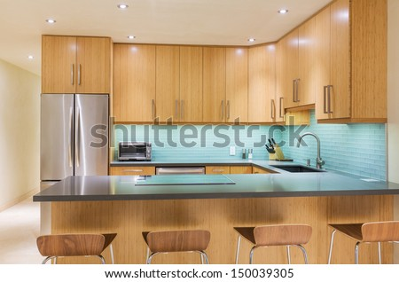 Modern Kitchen Interior Design Architecture  - stock photo