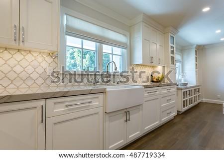 Modern Kitchen Remodel Farmhouse Sink Stock Photo (Royalty Free) 487719334    Shutterstock