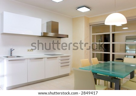 Modern kitchen with furniture