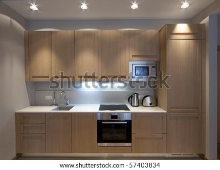 Modern kitchenette - stock photo
