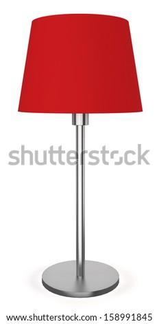 Modern lamp. 3d illustration on white background  - stock photo
