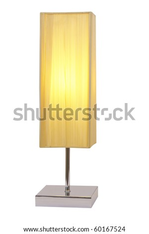 modern lamp isolated white