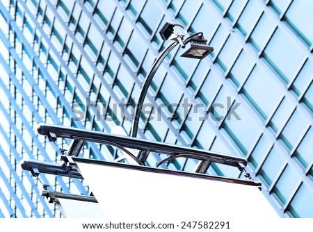 modern lantern on Billboards - stock photo