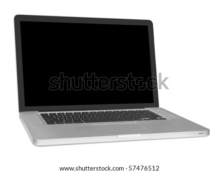 modern laptop isolated on white background .