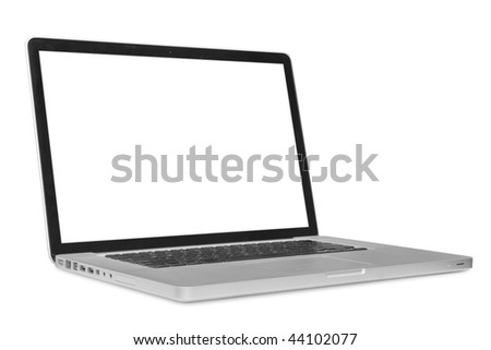 modern laptop on the white backgraunds .