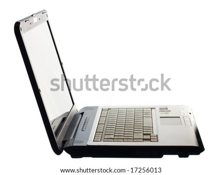 modern Laptop on white
