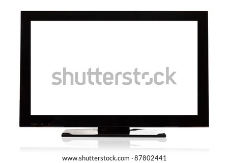 Modern LCD Television - stock photo