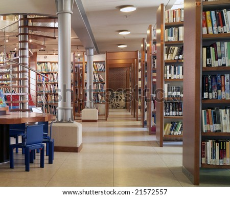 modern library - stock photo