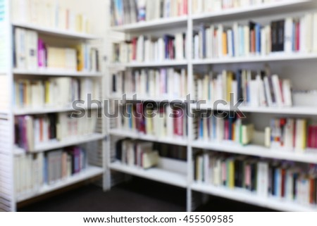 Modern library. Bookshelves full of books