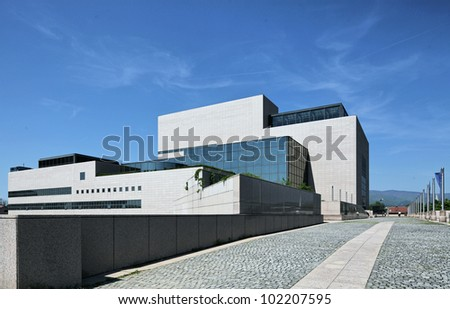 Modern Library Building in Zagreb - stock photo
