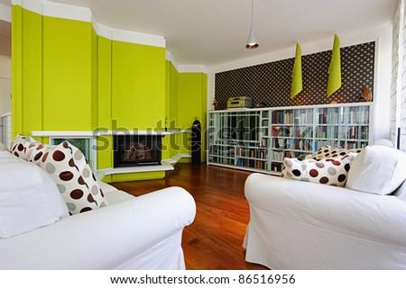 Modern living room apartment - stock photo