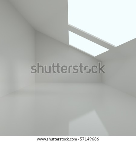 Modern Living Room - 3d illustration - stock photo