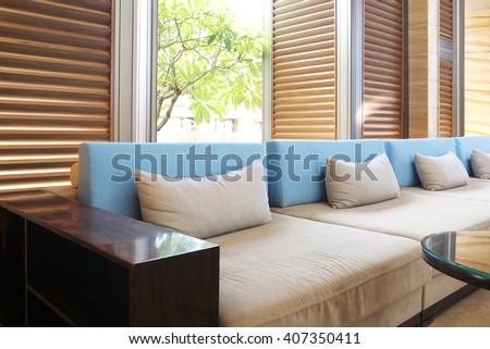 modern living room design with sofa - stock photo
