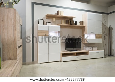 Modern living room furniture - stock photo
