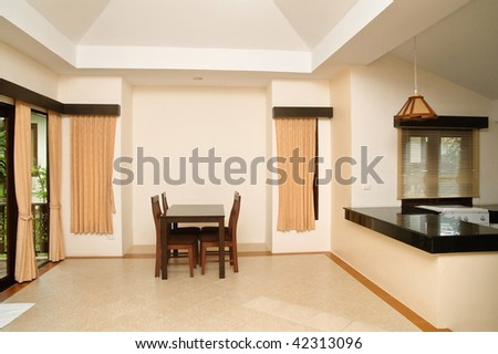 Modern living room in hotel apartment - stock photo