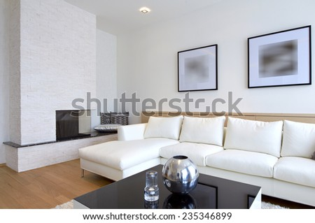 Clean house stock images royalty free images vectors for Clean modern living room