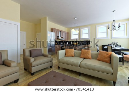 Modern living room. Interior design idea. - stock photo