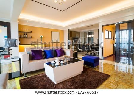 Modern living room nice decoration stock photo 172768517 for Nice modern living rooms