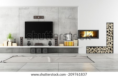 Modern Living Room Tv interesting modern living room with tv and fireplace engaging