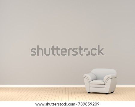 modern living room with white sofa and free copy space 3d rendering