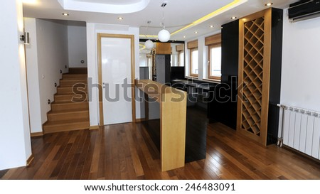 Modern living space - stock photo