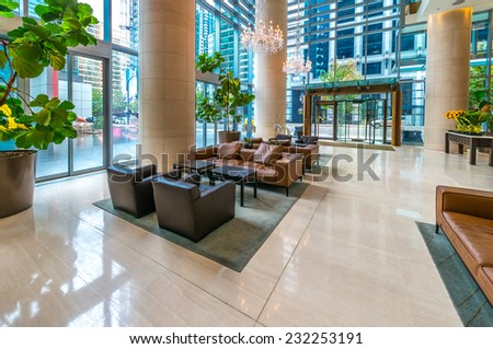 Hotel lobby stock images royalty free images vectors for Small luxury hotel group