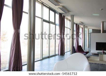 Modern lobby in the building - stock photo