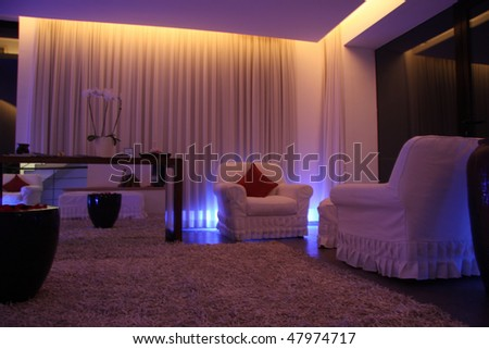 Modern lobby in the spa room - stock photo