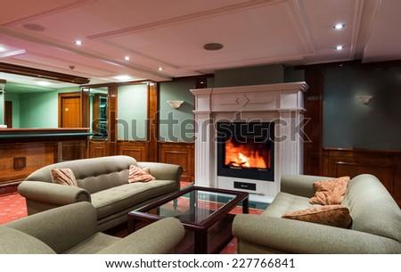 Modern lobby interior - stock photo