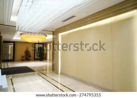 Modern lobby interior. - stock photo