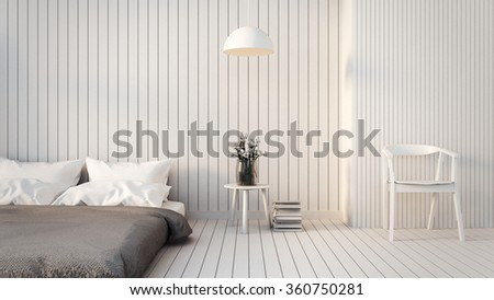 Modern & Loft Bedroom / 3D render image - stock photo