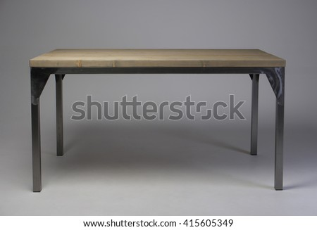 modern loft wooden table studio shot  - stock photo