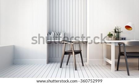 Modern & Loft Working room / 3D render image - stock photo
