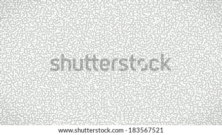 Modern looking white cells with a green halo, organically organized. - stock photo