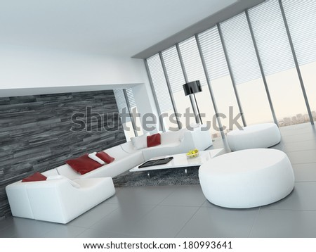 Modern luxurious living room interior