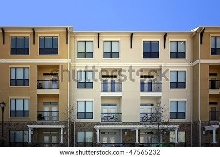 Modern   Luxury apartments (condo) - stock photo