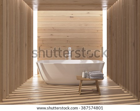 Modern luxury bathroom interior. 3d rendering
